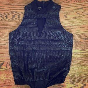 BEBE Black/shiny bodysuit